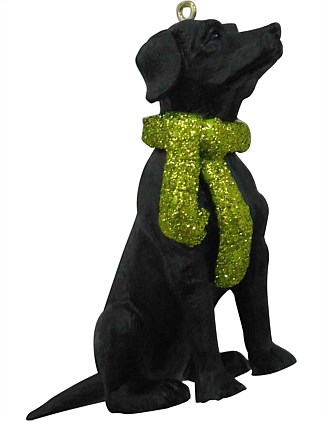 9cm Resin Labrador Ornament
