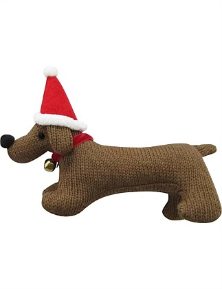 Fabric Sausage Dog Ornament