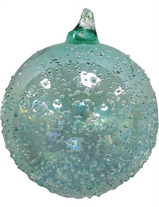 Glass Bauble Ornament - Blue