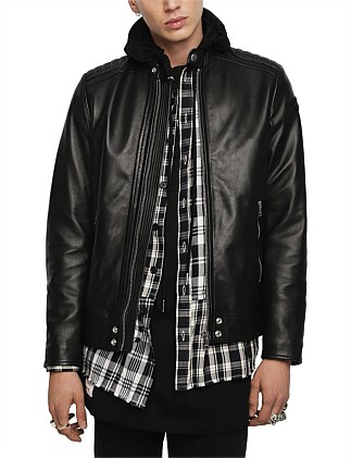 L-Shiro-Wh Leather Jacket
