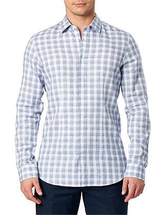 Ls Check Linen Shirt