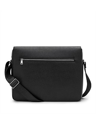 Pebbled Leather Messenger