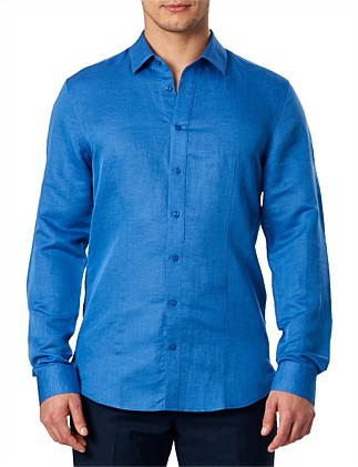 Cotton Linen Ls Shirt