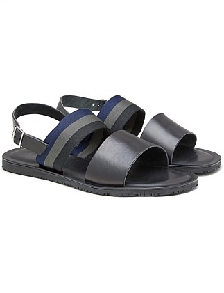 Grosgrain Leather Sandal