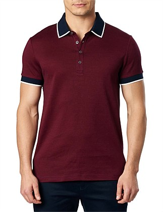 Red Jacquard Polo