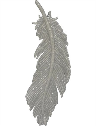 18Cm Plastic Feather Ornament
