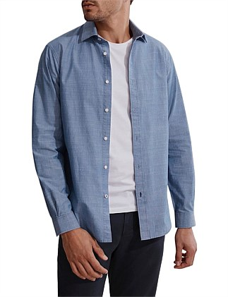 Regular Slub Chambray Shirt