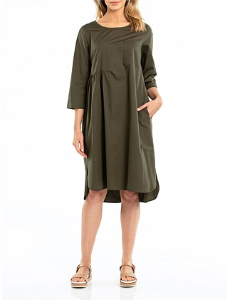 3/4 RELAXED COTTON DRESS
