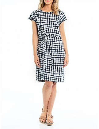 SHORT SLEEVE SALT BLOCK DRESS