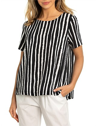 SHORT SLEEVE SEA STRIPE SHIRT