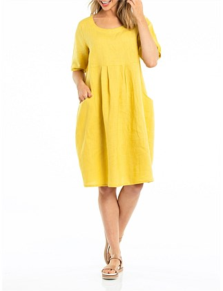 ELBOW EASY LINEN DRESS