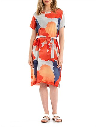 SHORT SLEEVE SUNSET DRESS