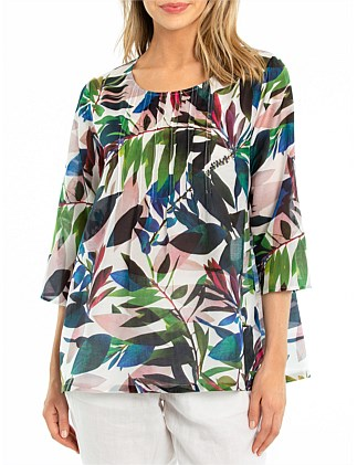 3/4 Sleeve Tropical Shirt