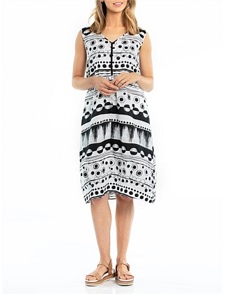 Sleeveless Cityscape Dress