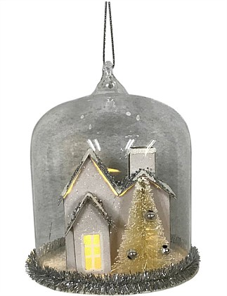 House Christmas Tree Ornament