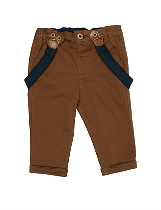 Mini Drill Chino Pants With Braces(3M-24M)