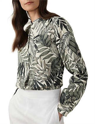 Etched Tropical Blouse