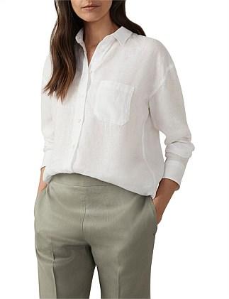 Scotch /& Soda Long Sleeve Tee in Lurex Yarn Dyed Stripe T-Shirt Bambina