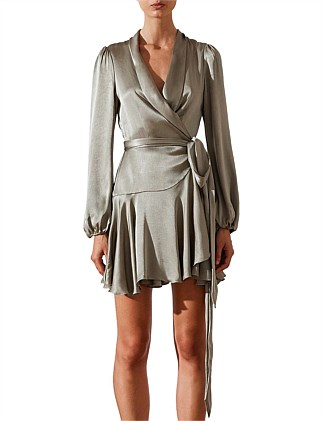 JOAN WRAP MINI DRESS