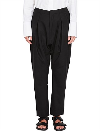Wool Pleat Tailored Pant