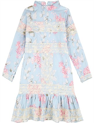 Hydrangea Floral Dress (8-16 YRS)