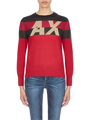 Branded Stripe Knit