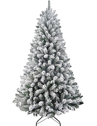 Christmas Tree 210cm Green Northstar with white flocking