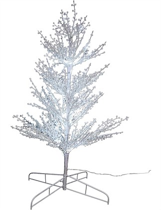 Tree 90cm White prelit with cool white lights