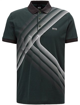 6202ce566 Cotton-Jersey Polo Shirt With City Lights Artwork. Hugo Boss
