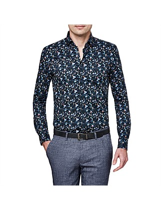 Conti Slim Stretch Fit Floral Shirt
