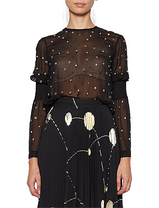 CARBON GALAXY STUD BLOUSE