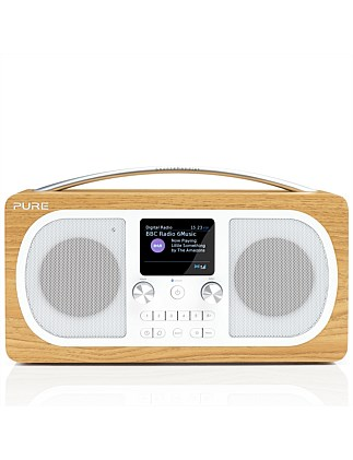 Evoke H6 Stereo DAB/DAB+/FM Radio with Bluetooth - Oak