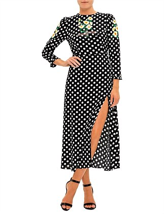 CLEMMIE POLKA DOT DRESS