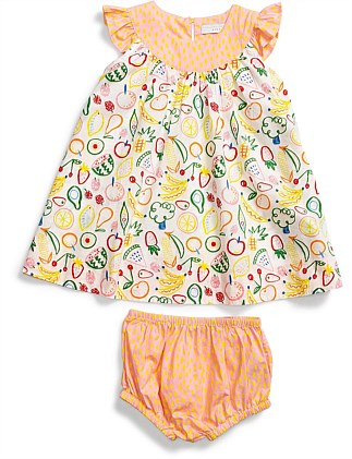 Fruit & Dots Dress(6M-18M)