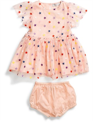 Embroidered Stars Karina Dress(6M-18M)
