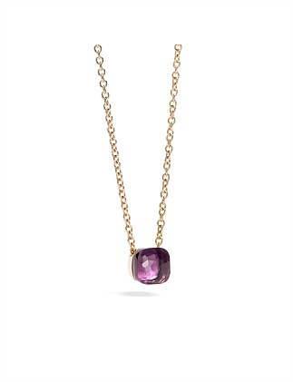 NUDO PETIT PENDANT WITH AMETHYST AND CHAIN
