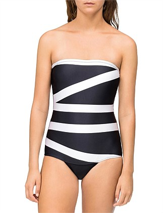 Core Abstract Bandeau One Piece
