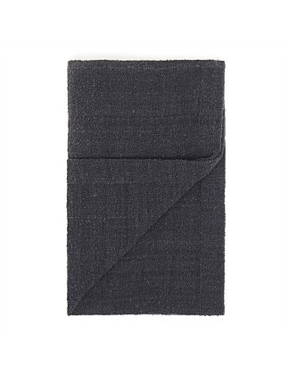 Alpaca Boucle Throw Charcoal