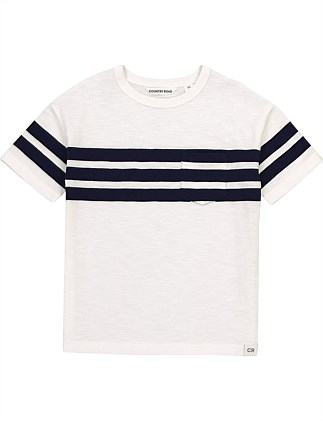 Tri Stripe T-Shirt (Boys 2-10)