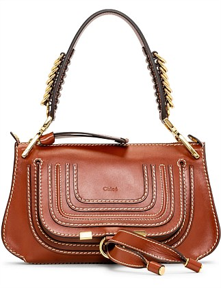 MARCIE SMALL SADDLE BAG WITH RINGS ON HANDLE
