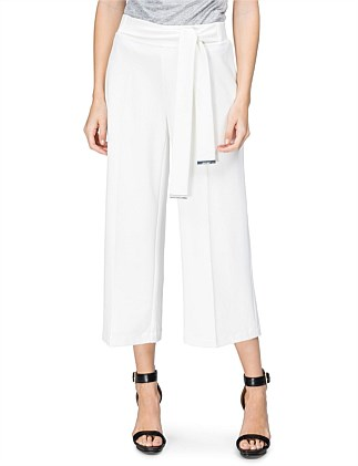 Culotte With Tie Belt