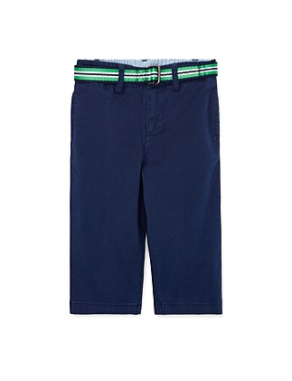 Belted Stretch Cotton Chino (3-24 Months)