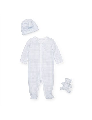 Anchor-Print Coverall Gift Set (3-9 Months)