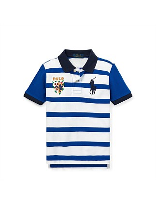 Striped Cotton Mesh Polo Shirt (2-4 Years)