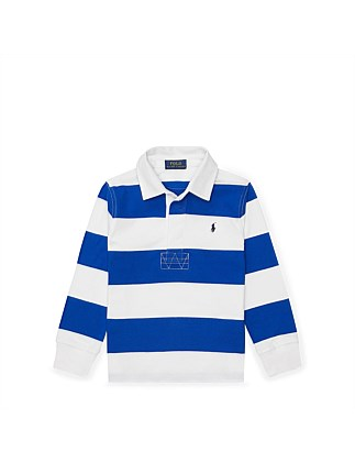 Striped Cotton Rugby Shirt (5-6 Years)