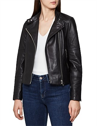 Tallis Leather Biker Jacket