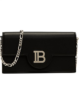 METAL LOGO CHAIN WALLET CALF