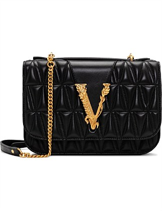 QUILTED BAG WITH NEW V BUCKLE