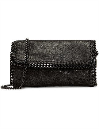 Flap Belt Bag Falab Shaggy Deer W/Black Chain