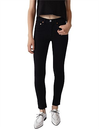 High Rise Skinny Ankle Crop Jean